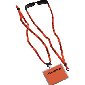 Dual purpose lanyard with ID and Sunglasses